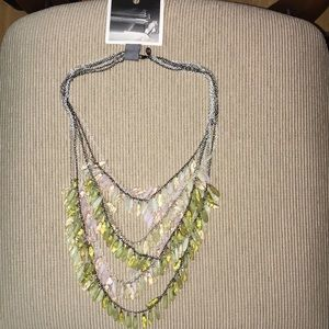 Brand new Anthropologie tiered necklace
